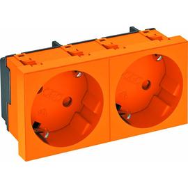 6120104 OBO STD-D3 ROR2 Steckdose 33 Grad 2-Fach Schutzkontakt orange Produktbild