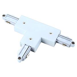 143071 SLV T-Verbinder 1-Phasenschiene weiß,Erde links Produktbild