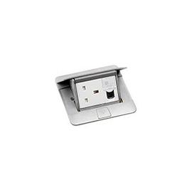 054010 Legrand Einbaudose f. 3 Module Aluminium matt Produktbild