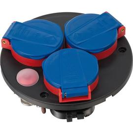 1137040 Brennenstuhl Steckdosenplatte 4fach schwarz/blau IP44 Produktbild