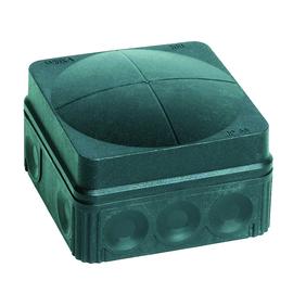 10061998 Wiska Combi 105/5/S FR-Abzweig dose schwarz 76x76x51 IP66 mit 5x2,5 Kle Produktbild
