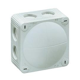 10060611 Wiska Combi 308/5/W FR-Abzweig dose weiß 85x85x51 IP66 mit 5x4 Klemme Produktbild
