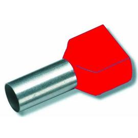 701584 Eltropa Aderendhülse mit Isolation 2x10qmm  L 14mm  rot Produktbild