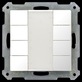 BE-TA5508.G1 MDT KNX Taster 8-fach reinweiß glänzend für 55mm Programm Produktbild