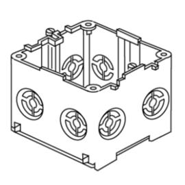 051292 Niedax KED65 Geräteeinbaudose 71X71X61 Produktbild