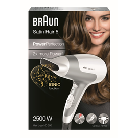 122616 Braun HD580 Haartrockner Satin Hair 5 2500W Weiß Produktbild