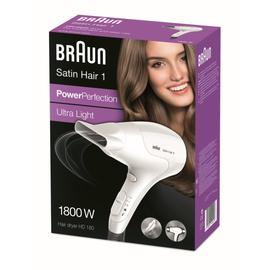 122418 Braun HD180 Haartrockner Satin Hair 1 1800W Weiß Produktbild