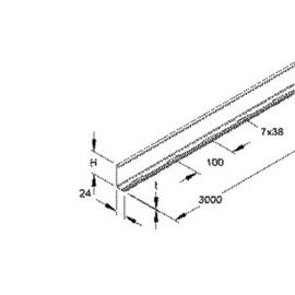237609 NIEDAX RW 85 Trennsteg 80x3000mm t=0,9mm Produktbild