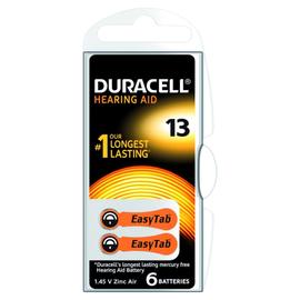 96077566 Duracell EasyTab 13 (PR48) Hörgerätebatterie 6er Produktbild