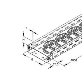 948161 Niedax Kabelrinne leicht stahl RLVC60.200 bandverzinkt Produktbild