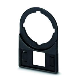 0827446 Phoenix CARRIER-EMP 22 (27X12,5) Schildträger schwarz unbeschriftet Produktbild