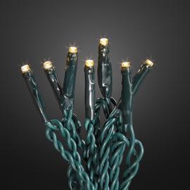 560435 Hellum LED Lichterkette 40 tlg. warmweiß, Kabel grün, 13,9m Trafo Produktbild