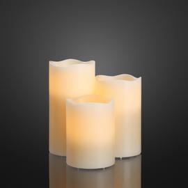 571950 Hellum LED Kerzen 3er + Fernbed. RGB + Timer Produktbild