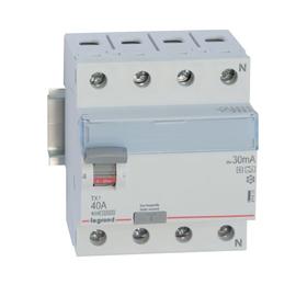 411815 Legrand TX3 FI 40A 4P 30MA A-HPI A-G FI-Schutzschalter Produktbild