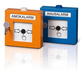 HMH-001 B RCS Handmelder Hausalarm, blau Produktbild