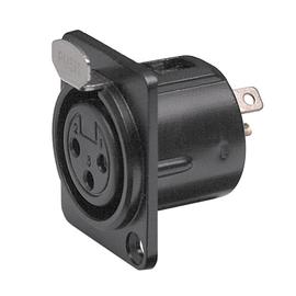 XLR-503 F RCS XLR Einbau Buchse, schwarz, female Produktbild