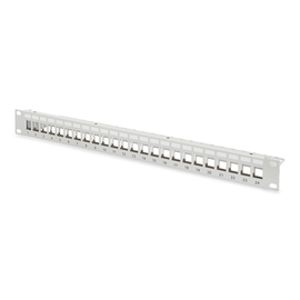 DN-91410 Digitus Patchpanel Modular 24port 1HE 19 1HE, RAL7035 shielded Produktbild
