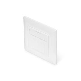 DN-93831 Digitus Keystone Jack Rahmen 2 port Designkompatibel, 80x80, 45° Produktbild