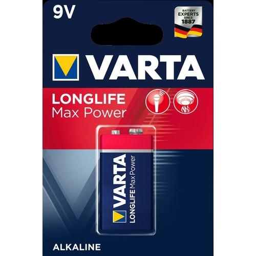 04722101401 VARTA LONGLIFE Max Power 9V Blister 1 Produktbild