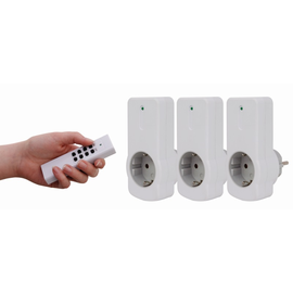 00834514 REV Funkschaltsteckdosenset 1 Fernbedienung +3 Schaltsteckdosen weiß Produktbild