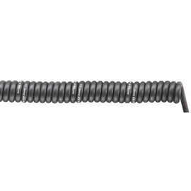 70002752 SPIRAL H07BQ-F 3G1,5/1500 PUR-Spiralkabel schwarz, dehnbar 4500mm Produktbild