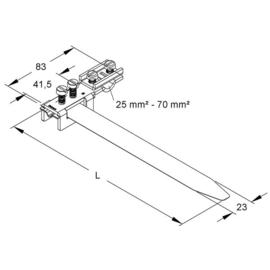 39/4 Kleinhuis KLEINHUIS Erdungsbandschellen            25 114mm Produktbild