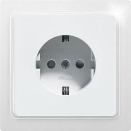 30065905 Eltako DSS65F wg Schutzkontakt Steckdose reinweiß glänz., E-Design Produktbild