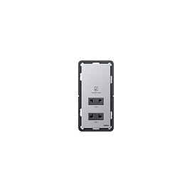 2820203 Gira Rasier Steckdose Gira E22 Aluminium Produktbild