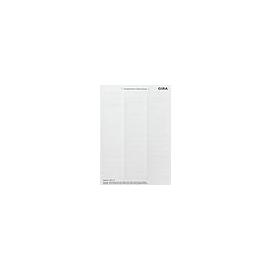2874112 Gira Beschriftungsbögen 15,8x67 mm Zubehör Reinweiß Produktbild