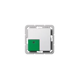 290803 Gira Anwesenheitstaster Grün System 55 Reinweiß Produktbild