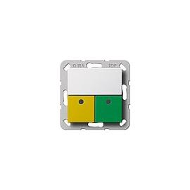 290903 Gira Anwesenheitstaster Grün, Gelb System 55 Reinweiß Produktbild