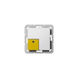 291003 Gira Anwesenheitstaster Gelb System 55 Reinweiß Produktbild