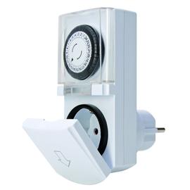 195102075 Kopp Zeitschaltuhr weiss mit Berührungsschutz Produktbild