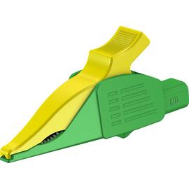 66.9575-20 Multi-Contact XDK-1033 4 mm Abgreifer Delfinklemme grün/gelb Produktbild