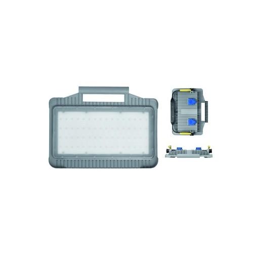 720.035 BACHMANN LED Strahler Magnum Futur 32W IP44 mit 2xSchukosteckdose Produktbild Front View L