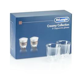 5513296661 DeLonghi SET DLSC301 Cappuccino Glas 6er Set Produktbild