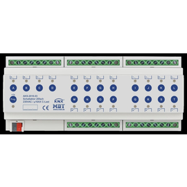 AKS-2016.03 MDT Schaltaktor 20-Fach 12TE, REG, 16A, 230VAC, C Last, Standard Produktbild