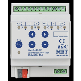 JAL-0410.02 MDT Jalousieaktor 4 fach, 4TE, REG, 10A, 230VAC Produktbild