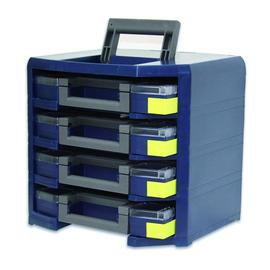137942 Raaco HandyBoxxser 4x4x4 raaco blau, (bestückt) Produktbild