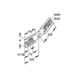 305100 Niedax WSGV 105 Gelenkverbinder, vertikal, Höhe 106,5 mm für WRL/WSL Produktbild
