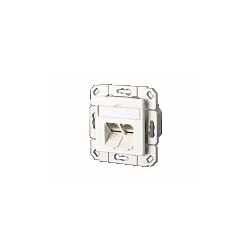130C381102-I Metz Connect Datendose CAT6 Port UPk rw E DAT C6A 2-fach 50x50 ZS Produktbild Front View L
