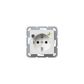 267703 Gira  Fi Schuko-Steckdose mit integriertem erhöhten Ber.Schutz reinw.g Produktbild