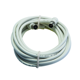 389326 Triax FEKAB A+ 3.0 m TV-Anschluss kabel Koax-Stecker/Buchse gewinkelt weiß Produktbild