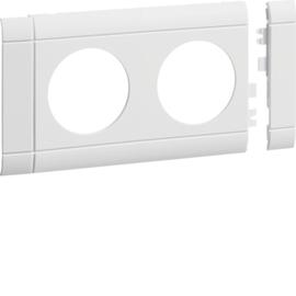GB080209010 Tehalit Blende 2 fach Steckdose hfr OT 80 rweiß Produktbild