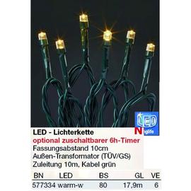 577334 Hellum Lichterkette 80 LED ww Trafo mit Timer aussen Produktbild