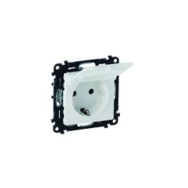 753117 Legrand Valena Life Steckdose mit Klappdecken, SHUTTER Ultraweiß Produktbild