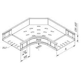10075 Trayco CT60-B90-300-PG Kabelrinne Bogen 300 Produktbild