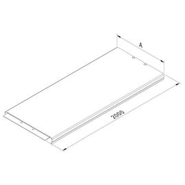 10094 Trayco CT-C-200-2PG Kabelrinne Deckel klipsbar 200 Produktbild