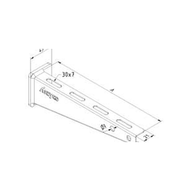 14241 Trayco WB15-0100-DG Wandausleger 100 1,5kN Produktbild