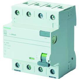 5SV3344-6LA01 Siemens FI Schutzschalter Typ A/G 40A 3+N pol. 30mA 400V 4TE Produktbild